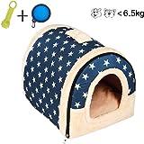 Enko 2 en 1 Cómodo Casa para Mascotas y Sofá, Interiores y Exteriores Portátil Plegable de…