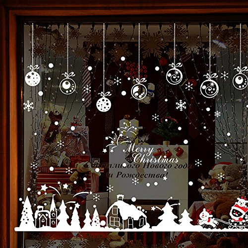 iuuhome Merry Christmas Snow Cabin Christmas Christmas Cabin Removable Home Vinyl Window Wall Stickers Decal Decor from iuuhome🌹🌹