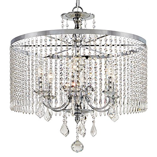 - Home Decorator Collections 6-Light Polished Chrome Chandelier with K9 Crystal Dangles