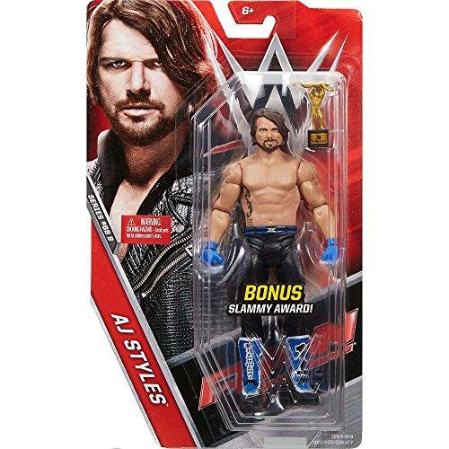 WWE Basic Series #68 B - AJ Styles Figure Chase with Slammy Award by Mattel