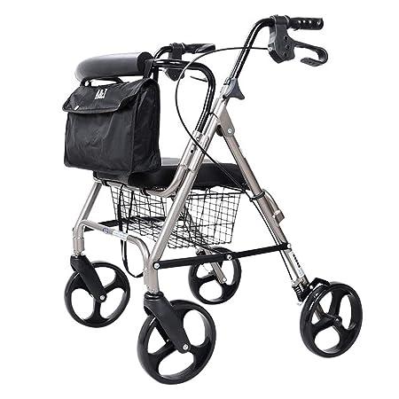 Walkers Roller Silla de Transporte con Freno de Dos Manos ...