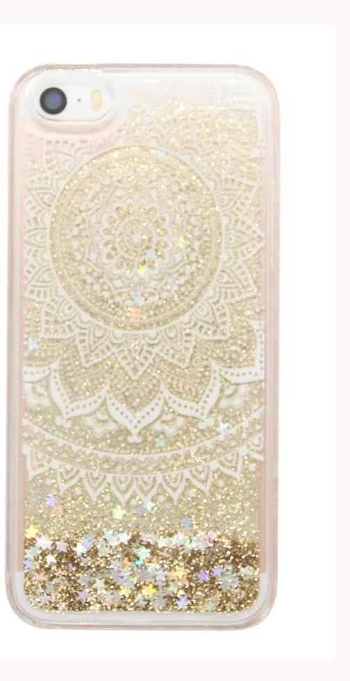 uCOLOR Gold Glitter Floral Unicorn Case