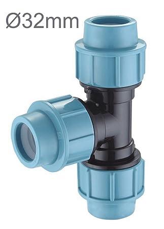 Brandneu PP-Verbinder für 32 mm PE-Rohr Kupplung Endkappe Verbund Fitting  VA28