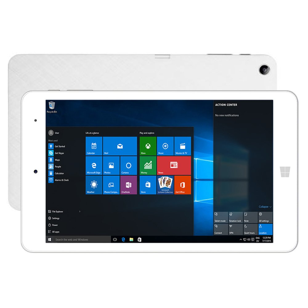 """CHUWI Hi8 Pro 2-in-1 Ultrabook Tablet PC, 8"""" Dual OS Windows10 & Android 5.1 Intel Cherry Trail Z8300 Quad Core 2GB RAM 32GB ROM Tablet with WIFI Bluetooth Type-C 4000mAh Battery HDMI OTG Phablet"""