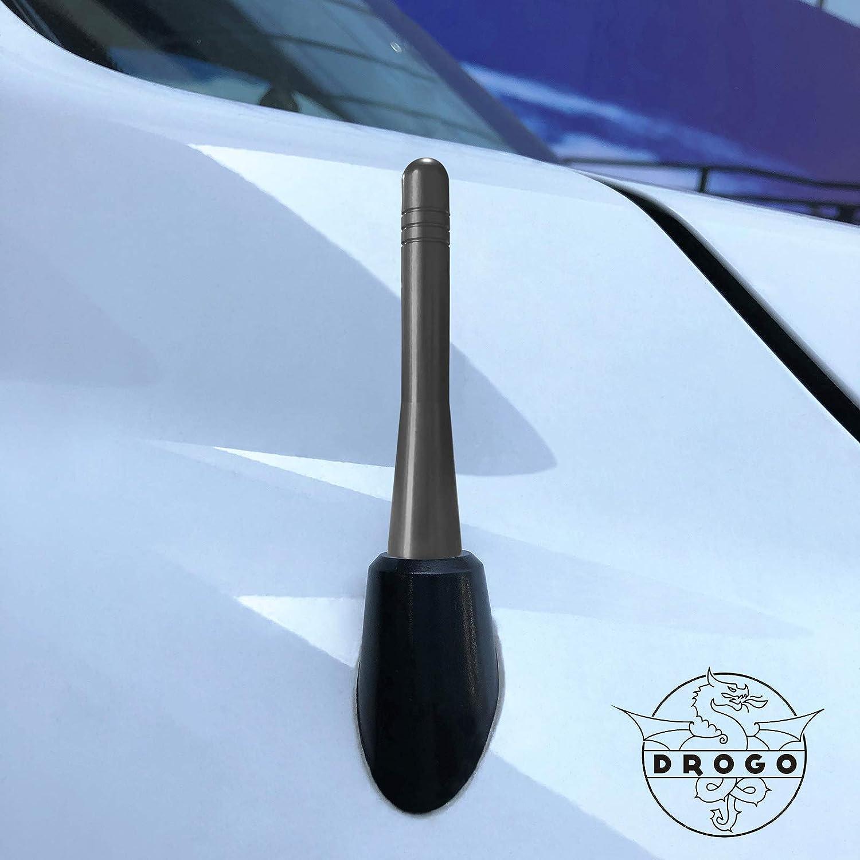 FM//AM Reception Enhanced Stealth Black Drogo X Racing D1068-320BA1-BK01 Tough Material Creative Design DROGO 3.2 StandX Replacement Antenna for Ford Raptor 2010-2018