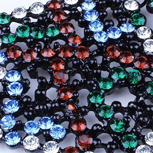 Qiyun Petite Perles Colore Chaine Web Faux Dossard Col Collier Geometrique Des Femmes