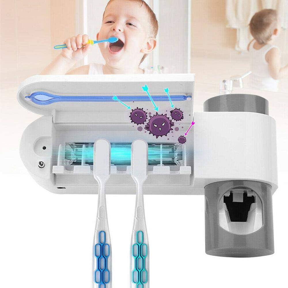 drillfreie Zahnpasta mit 5 Zahnb/ürstenpl/ätzen f/ür Kinder und Erwachsene MOGOI UV Zahnb/ürste Sterilisator zahnb/ürstenhalter Automatisch elektrischer Wandbefestigung
