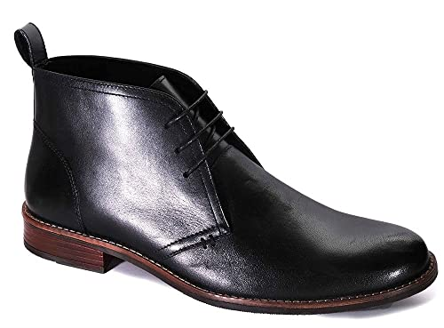 fea85b5a Catesby Men's Jake Leather Lace-Up Chukka Boots: Amazon.co.uk: Shoes & Bags