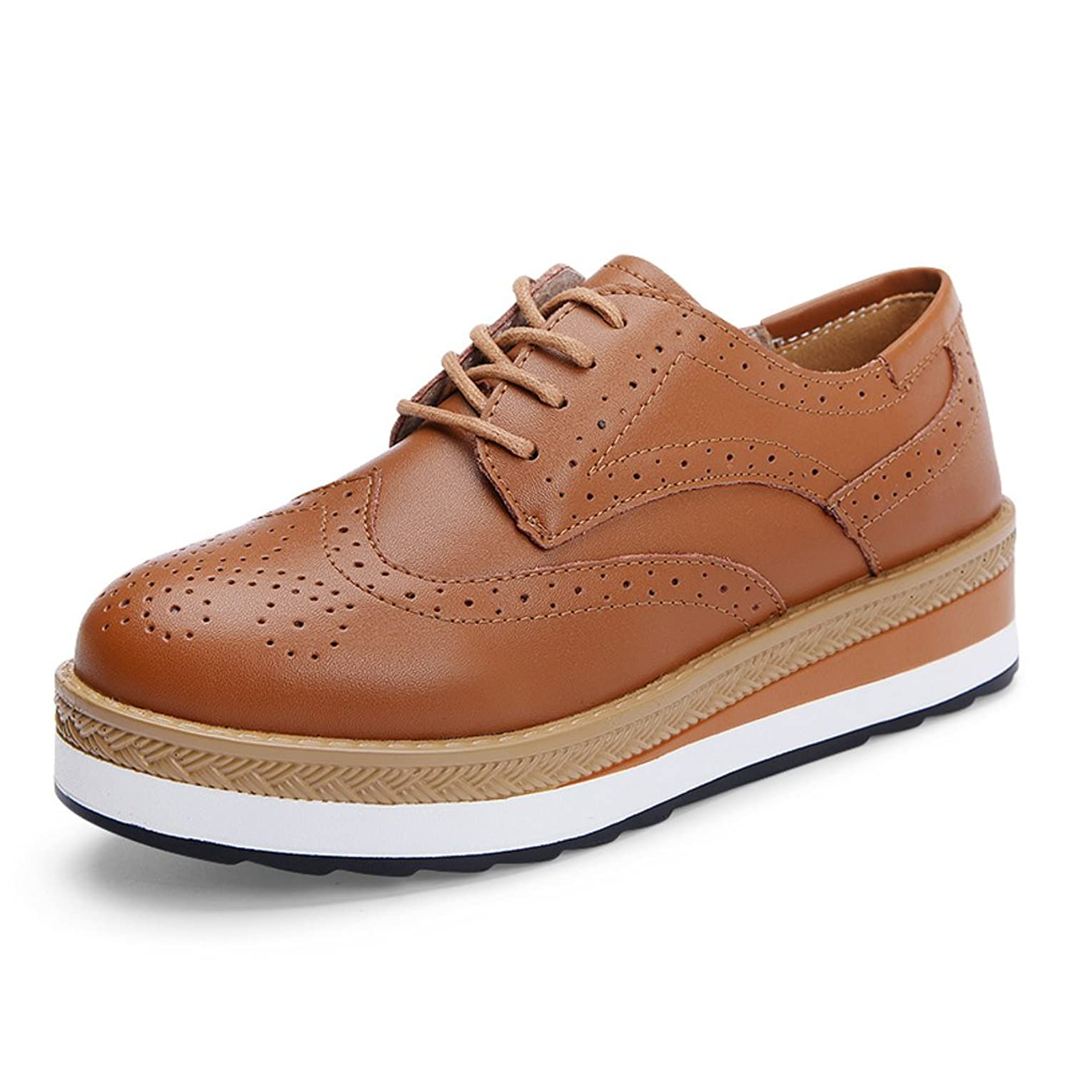 683fea1cbe8c3 the wind-carved Brock shoes of England/ thick-soled shoes women ...