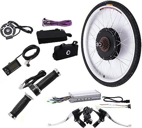 TFCFL E-Bike Kit de conversión para la Rueda Trasera, 26 36V 500W Rueda Trasera Motor eléctrico Bicicleta Kit E-Bike Ciclismo Hub con Pas y Pantalla LCD: Amazon.es: Deportes y aire libre