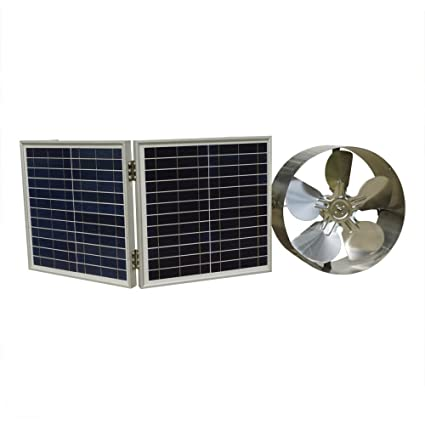 Home Improvement New 25w Solar Powered Attic Ventilator Gable Roof Vent Fan With 30w Foldable Solar Panel
