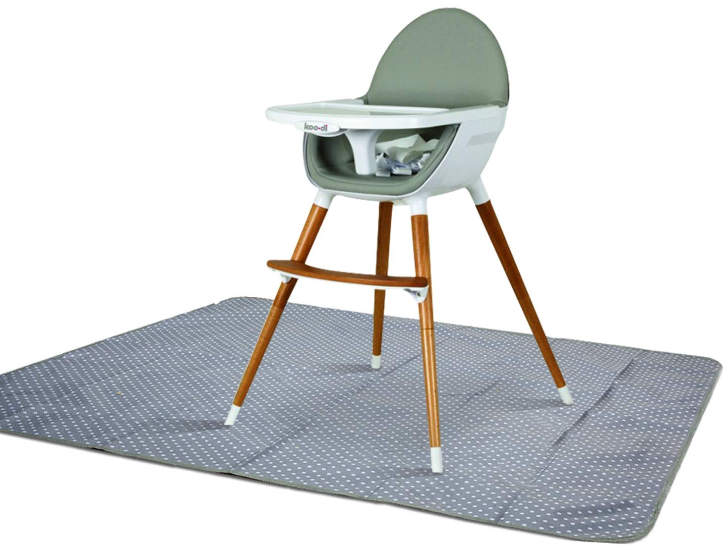 Splat Mat for Under High Chair - Splash Mat | Washable & Water Resistant | Non-Toxic | Multiple Uses | Easy to Wipe | Quick Drying | Large 42 inch Size | Comes w/Carrying case for Floor or Table by Alnoor USA