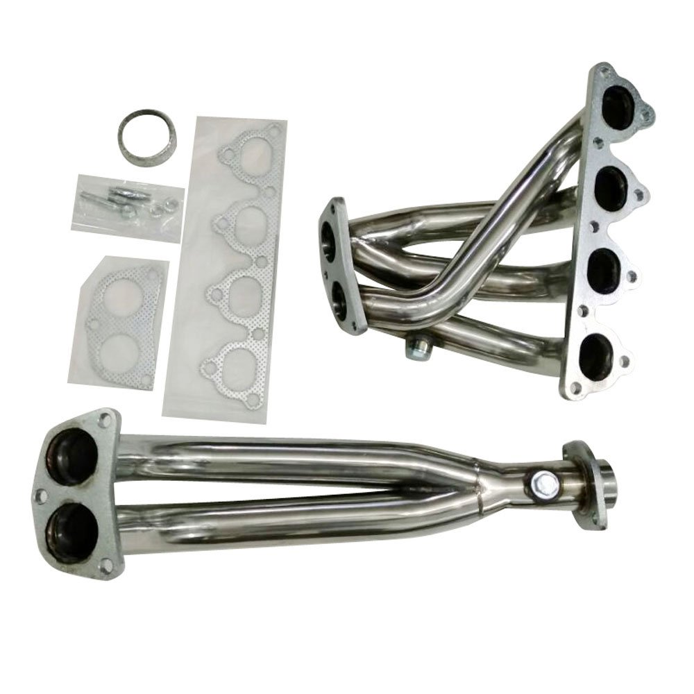 MILLION PARTS Stainless Steel Header Exhaust System Kit for Honda 1988-2000 Civic & 1993-1997 civic del Sol & 1988-1991 CRX