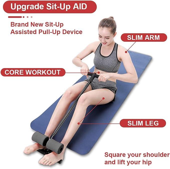 Zebery Sit Up Bar Assistant regolabile Sit Up Bar Addominale Trainer Sit Up Aid Attrezzature per stretching Auto-adescante Sit Up Bench per Allenamenti domestici