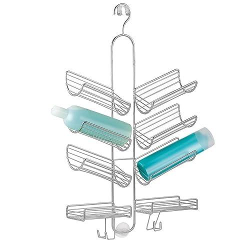 mdesign duschablage zum hngen praktisches duschregal ohne bohren aus metall schrge duschkrbe zum einhngen - Duschzubehor Zum Hangen