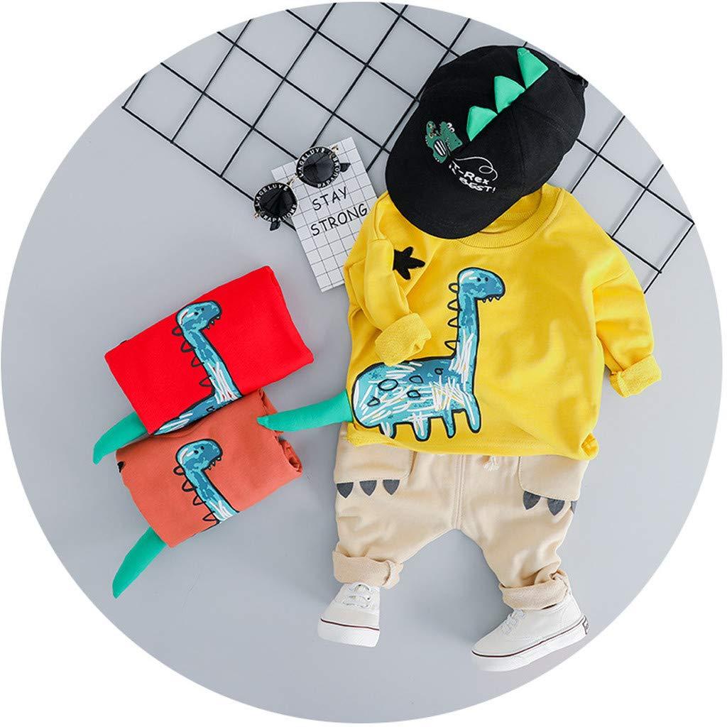 Baby Jungen Kleidung,TTLOVE Kleinkind Kinder Sweatshirt Dinosaurier Cartoon Pullover Lange /Ärmel Tops+Lange Hosen Jeans Outfits Babykleidung Set