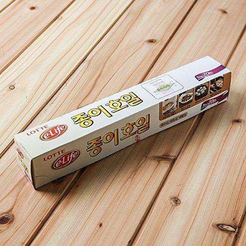 Lotte e-life Eco-Friendly Natural Pulp Cooking & Baking Paper Sheets(30cm×20M)