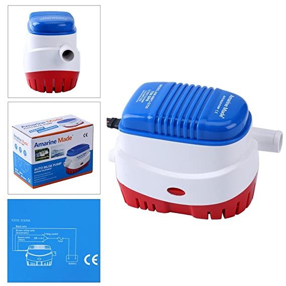 Amarine-made Automatic Submersible Boat Bilge Water Pump 12v 750gph Auto with Float Switch-new (A)