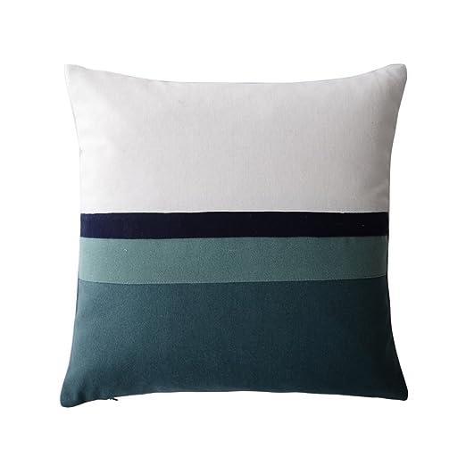JWH funda de almohada geométrica hecha a mano, fundas de ...