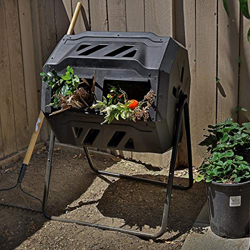 ster Composting Bins Garden Easy Turn System Rotating Barrel, 37 Gallon ()