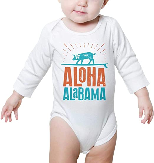 I Love Alabama Baby Onesie Romper Long Sleeve Organic Cotton Unisex