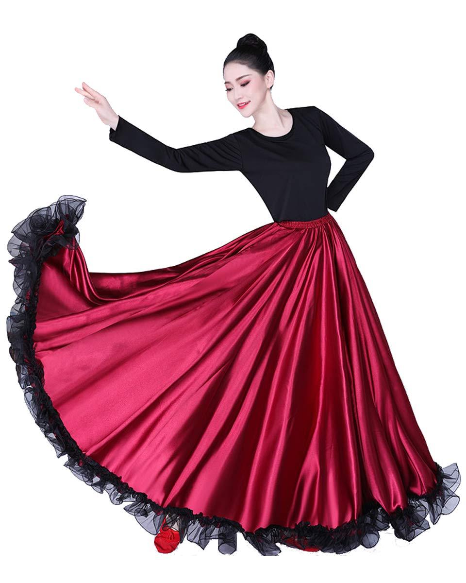 Grouptap Flamenco Violet Rojo Satinado Encaje español Mexicano ...