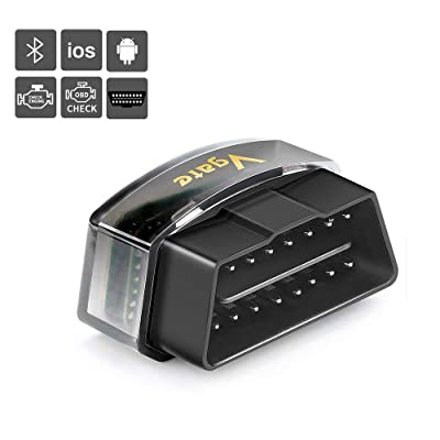 INTSUN OBD2 Scanner Bluetooth Car OBD 2 Code Reader Scan Tool OBD II Bluetooth 4.0 Auto Diagnostic Scanner Tool for iPhone iOS Android iPad, Check Engine Light for Year 1996 and Newer Vehicles: Automotive