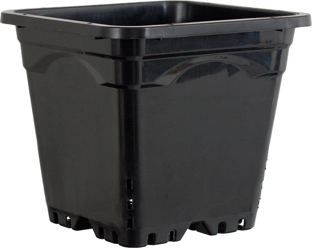 Active Aqua HG12X12SB Square Pot (24 Pack), 12 by 12'', Black