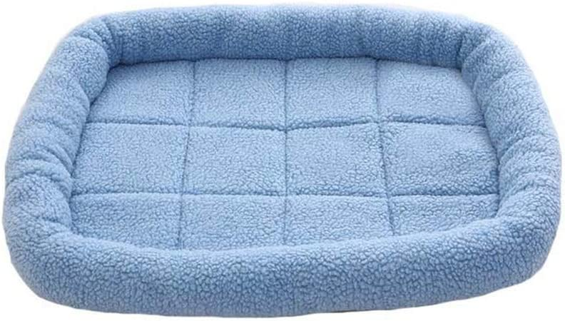Soft Dog Bed Mat Puppy Cushion Animals Accesories Pet Products Puppyt Anti Pilling Litter Cat Pad,Blue,70X60Cm