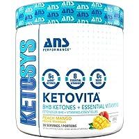 Ans Performance Ketovita - Bhb + Vitamins Peach Mango 225g (30) serving 30 Count