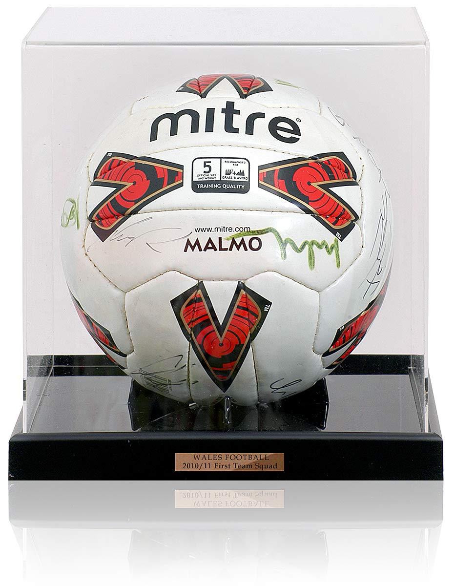 Balón de fútbol BSM Gales 2010-2011 de Mitre Malmo Firmado a Mano ...