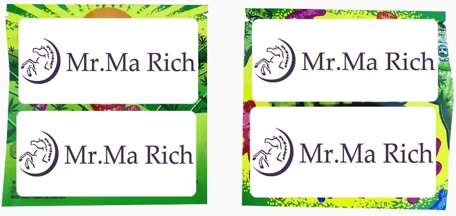 Mr.Ma Rich Mylar Bags Smell Proof Resealable Stand-up Ziplock Foil Bags Food Safe Plastic Aluminum Material (Green Original(4x4in 5G), 25) No Mr. Ma Rich Logo