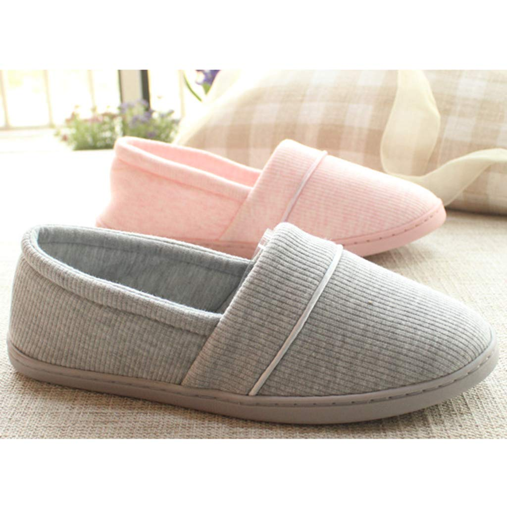 MagiDeal Womens Mens Winter Warm Home House Indoor Shoes Anti-Slip Cotton Sandals Closed Toe Slippers