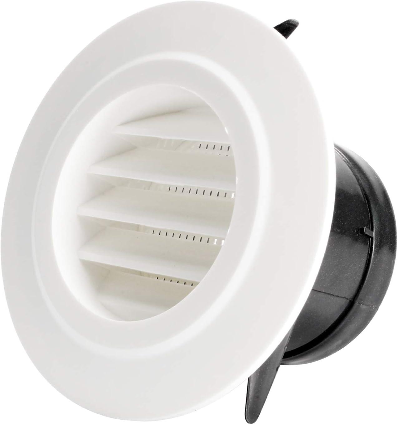 Hon&Guan Ronda Rejilla de Ventilación ABS con Protección Contra Insectos, Respiraderos de Láminas para Baño Habitación Oficina (ø75mm): Amazon.es: Bricolaje y herramientas