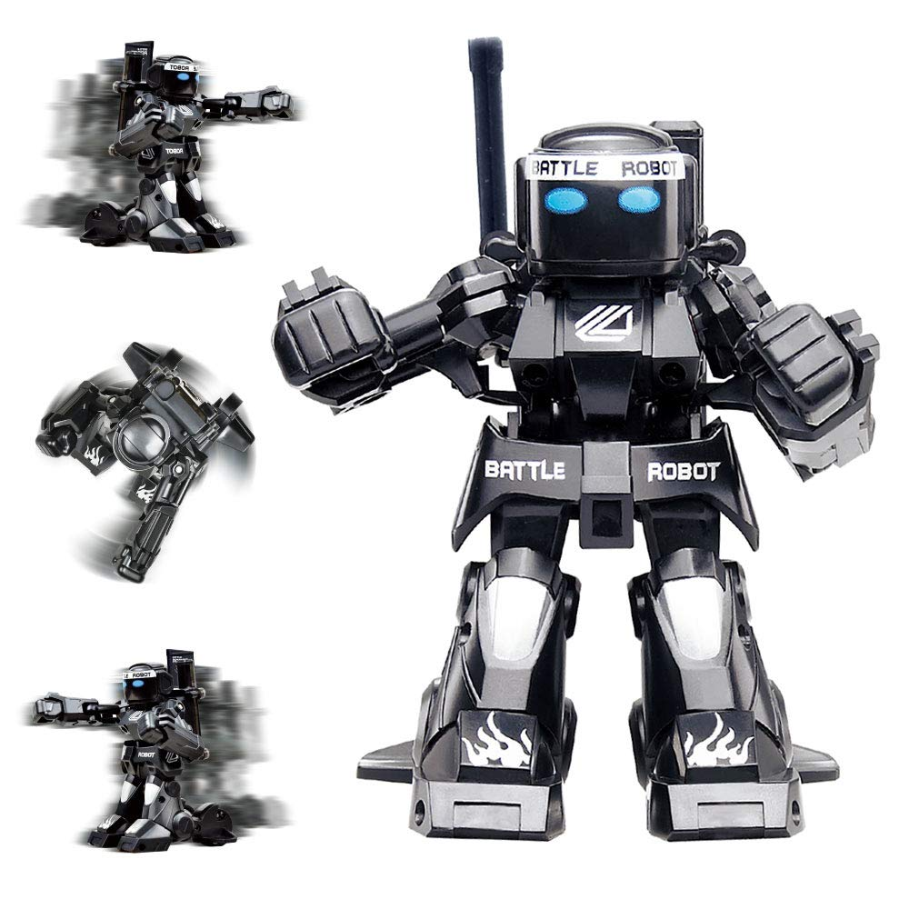 Dulcii RC Battle Boxing Robot/Toys, Remote Control 2.4G Humanoid Fighting Robot, Two Control Joysticks Real Boxing Fight Experience (Black & White) by Dulcii (Image #5)
