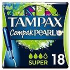 Tampax Compak Pearl Super Tampones con Aplicador - 18Unidades