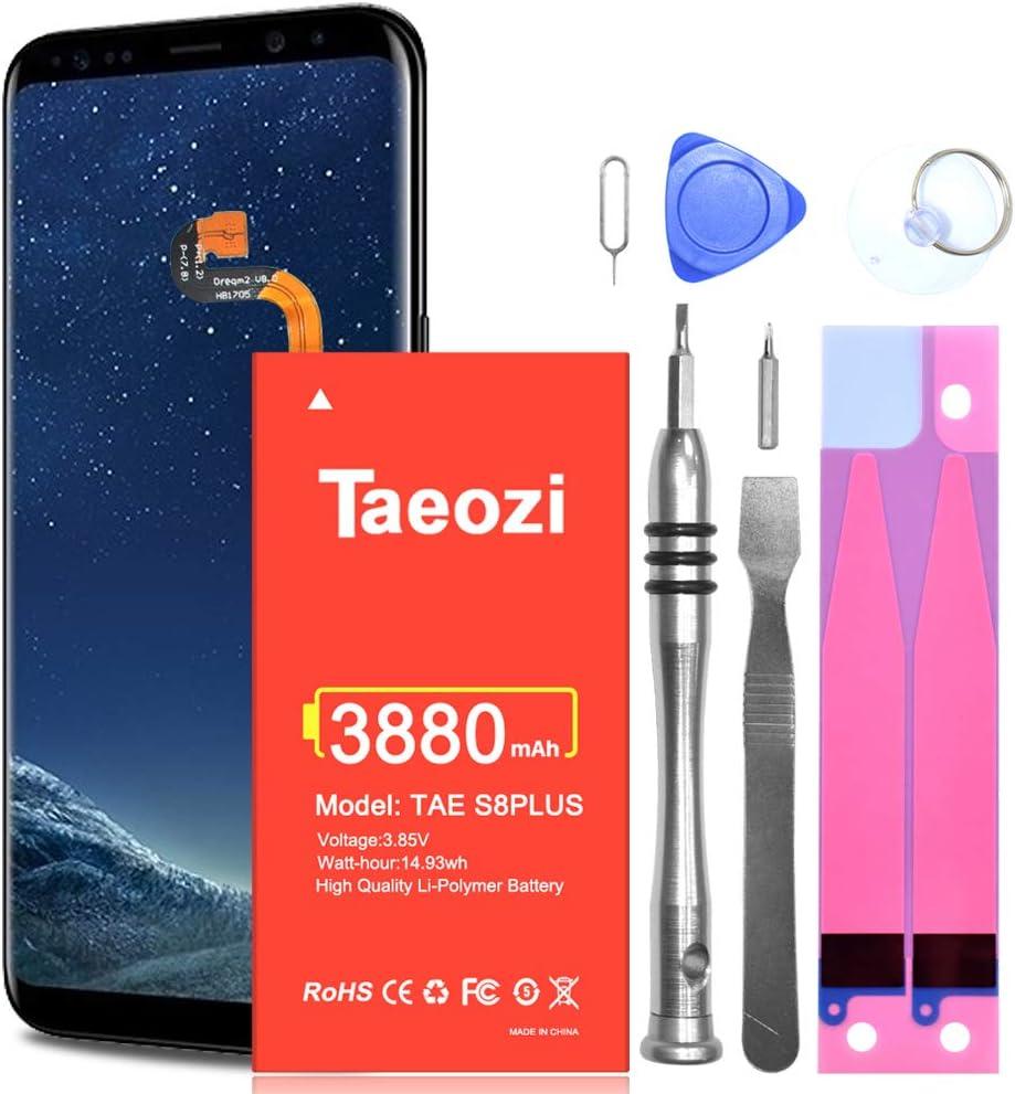 Batería para Galaxy S8 Plus, batería interna de polímero de litio de 3880 mAh para Samsung Galaxy S8 Plus, Galaxy S8+ SM-G955 (6.2 pulgadas) EB-BG955ABE + kit de herramientas de destornillador