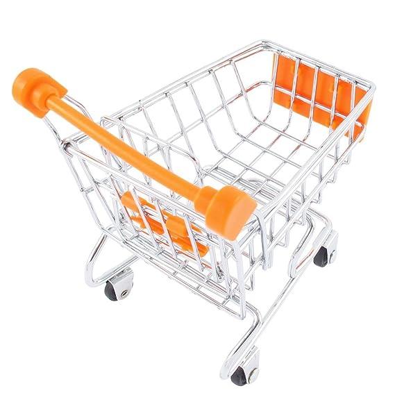 Amazon.com: eDealMax móvil Mini carro de compras de carros de Mano Modo de almacenamiento del teléfono móvil de Orange: Home & Kitchen