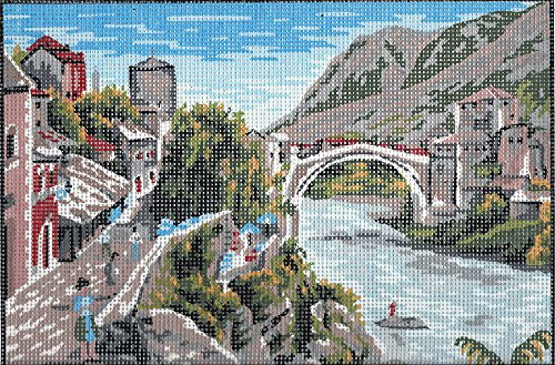 - BY THE BRIDGE NEEDLEPOINT CANVAS, NOT A KIT
