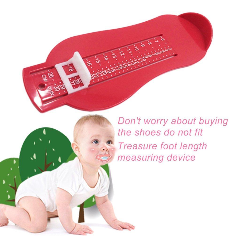 Enfants Foot Measure outil chaussures Helper bébé pied mesure Règle dispositif (couleur: rouge) Gugutogo