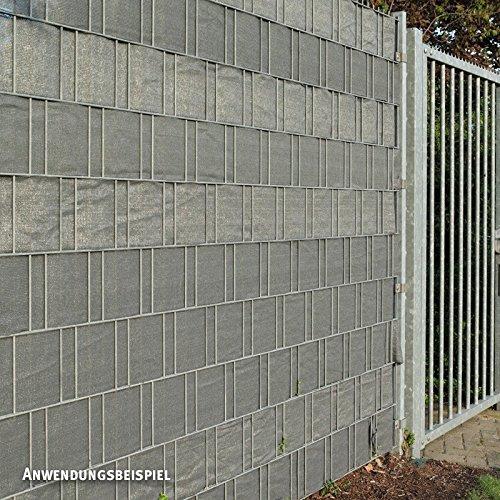 Videx Pe Sichtschutzstreifen Fur Doppelstabmatten 19 X 250 Cm