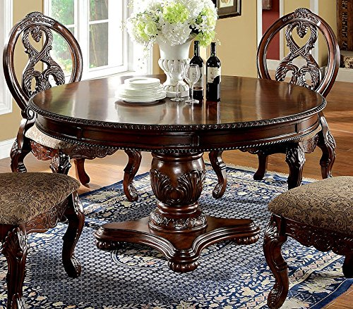 Tuscany Antique Cherry Round Dining Table by Furniture of America (Room Dining Tuscany Furniture)