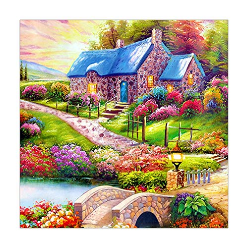 Moorecastla m540 DIY Square Diamond Painting Cross Stitch Embroidery Decor Colorful