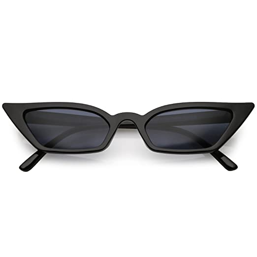 907e5f372d2 sunglassLA - 90s Small Vintage Cat Eye Sunglasses for Women with Thin  Extreme Rectangle Frames (