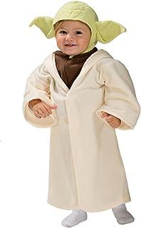 Star Wars Costume Kids Yoda Costume Toddler 1 - 2 years  sc 1 st  Amazon UK & Star Wars Rubieu0027s Official Disney Deluxe Jedi Child Small S: Amazon ...
