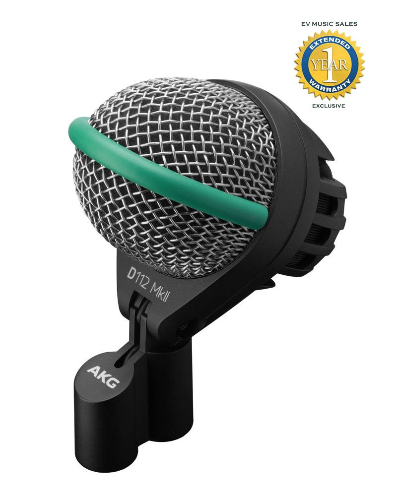 AKG D112 MkII Professional Dynamic Bass Drum Microphone with 1 Year Free Extended Warranty by AKG