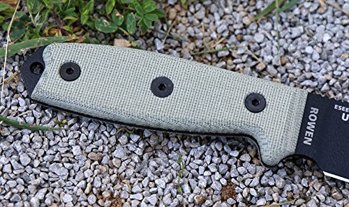 ESEE Knives ESEE-3MIL-P Military Plain Black Edge / w Green Canvas Micarta Handles by ESEE Knives (Image #5)