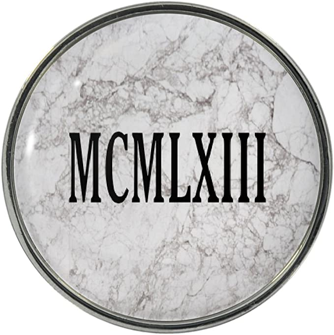 1949 Roman Numerals Metal Pin Badge birth year date Latin birthday MCMXLIX NEW