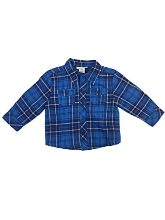 c88d21be Infant & Toddler Boys Blue Plaid Flannel Shirt Jacket with Quilted Lining 2T