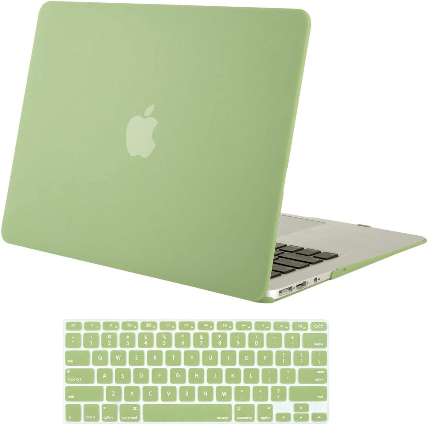 MOSISO MacBook Air 13 inch Case (Models: A1369 & A1466, Older Version 2010-2017 Release), Plastic Hard Shell Case & Keyboard Cover Skin Only Compatible with MacBook Air 13 inch, Avocado Green